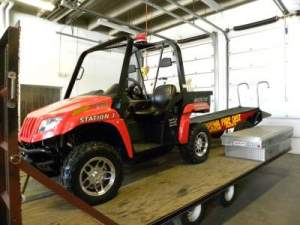 All Terrain Vehicle & Rescue sled with trailer