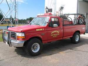 1992 Ford 4x4  250 GPM Pump 300 Gallon Tank
