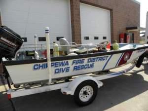 1978 Boston Whaler Rescue Boat with 100 HP Mercury Motor & Trailer