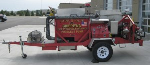Garner/Denver 2500 gpm Trailer Pump